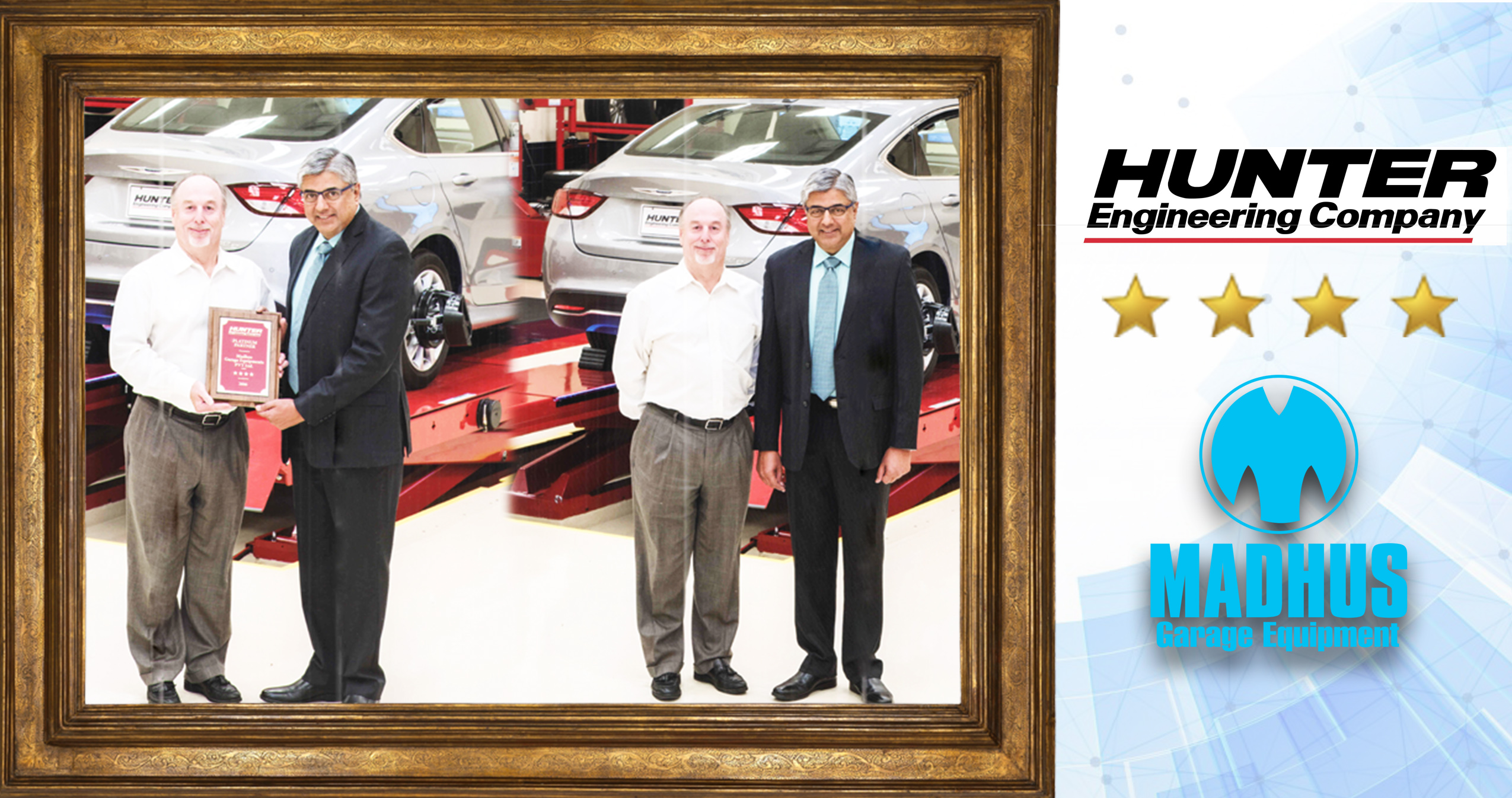 "Madhus Garage Equipment - Hunter Award  Madhus for best Performance with ""Four Star"""
