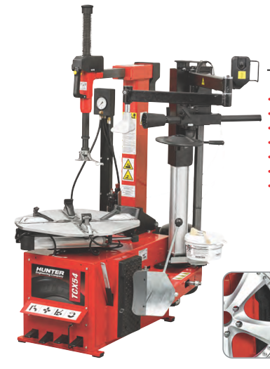 Madhus Garage Equipment - Hunter  TCX 54 - AUTOMATIC TILT-COLUMN TYRE CHANGER